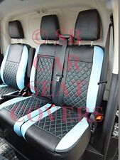 TO FIT A FORD TRANSIT CUSTOM VAN, SEAT COVERS, BLUE / BK BENTLEY DIAMOND