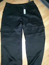 M&S Autograpgh Black Satin Cargo Pants Size 14-BNWT