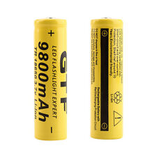 10 x 18650 3.7V 9800mAh Yellow Li-ion Rechargeable Battery Cell For Torch KG