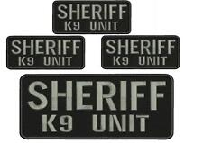 """SHERIFF K-9 UNIT 4 embroidery patch  4x10"""" and 2x5hook on back"""