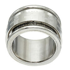 Steel by Design Stainless Steel Our Father Prayer Spinner Ring Size 9 QVC