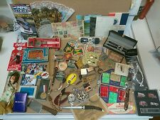 AWESOME Vtg Junk Drawer Lot. Silver, Coins Stamps, Pens, Jewelry. Lighter + MORE