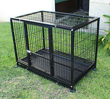 "New 3XL 48"" Heavy Duty Dog Pet Metal Kennel Playpen Exercise Pen Cage Crate"