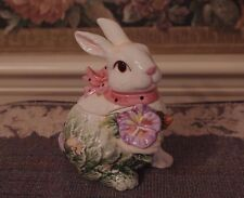 Corner Ruby Collection Bunny Rabbit Flower Candy Dish Container Easter Ceramic
