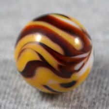 """VINTAGE CAC CHRISTENSEN AGATE 3 or 4 COLOR FLAME SWIRL MARBLE 5/8"""" Fiery Hot!"""