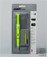 LAMY SAFARI LIMITED EDITION NEON LIME FOUNTAIN PEN - MEDIUM NIB