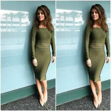 HOUSE OF CB 'Jadzia' Khaki Off Shoulder Bandage Dress 'FAULTY' SS 7212