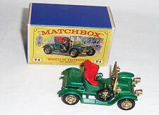 Matchbox Lesney Model of Yesteryear Y2 1911 Renault NEW OLD STOCK MINT (1963) JL