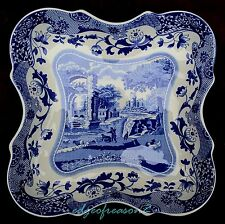 Spode Blue Italian SQUARE Scalloped EDGE seving dish