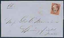 "#10 ON FOLDED LETTER PAID TOWN CANCEL ""A"" RELIEF POS.78R1L CV $285 BT446"