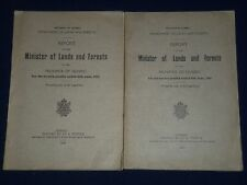 1920-1921 REPORT OF THE MINISTER OF LANDS & FORESTS OF QUEBEC LOT OF 2 - II 6157