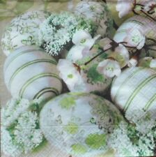 4 x single  PAPER NAPKINS -eggs  flowers DECOUPAGE AND CRAFT-34