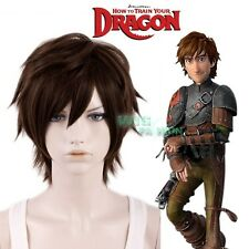 How to Train Your Dragon Hiccup Dark Brown Short Cosplay Wig