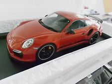 Porsche 911 991 turbo s Exclusive gb Edition red rojo lim. 1/350 GT Spirit 1:18
