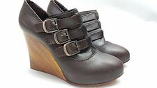 WOMAN SHOES CHLOE' 37,5 US 7.5 MADE IN ITALY SILVERADO WOOL BROWN LEATHER NWB