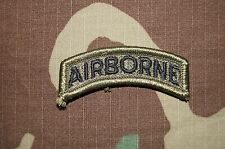 Military Patch US Army AIRBORNE TAB Green OD BDU RARE Authentic