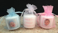 Personalised Photo Candles (christening/ baptism/ naming day) set of 10