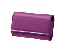 SONY Premium Leather Cybershot Violet Carry Case LCS-TWJV ORIGINAL / Brand New