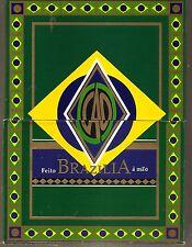 EMPTY C  A O Brazilia GOL! PASTE BOARD DOUBLE FLIP-TOP Cigar Box