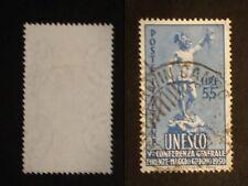 REPUBBLICA 1950 UNESCO LIRE 55 USATO