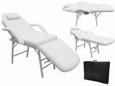 "White Massage Table 73"" Portable Tattoo Parlor Spa Salon Facial Bed Beauty Chair"