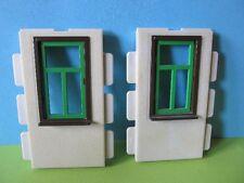 PLaymobil*2x Fenster grün weiß Bauernhof Scheune 3716 3666 3667 3446 Ritterburg