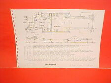 1961 PLYMOUTH FURY CONVERTIBLE BELVEDERE SAVOY HARDTOP FRAME DIMENSION CHART