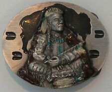NATIVE AMERICAN INDIAN : NATIVE AMERICAN BELT BUCKLE MADE IN 1994. REF: C127