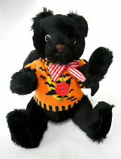 "Hermann Teddy Bear Black Halloween  15.5"" Tall 62 of 405"