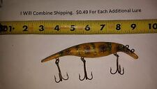 Vintage Muskie Musky Pike Drifter Tackle Believer Fishing Lure 6 inches long