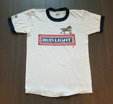 Vintage 86 Bud Light Pine Creek Classic 15k ringer 50/50 soft thin tshirts L
