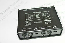 Stageline DIB-102 twin D I box Passive feedthrough Jack input balanced XLR out.