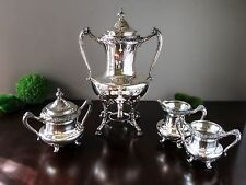 REED & BARTON SILVER PLATED SAMOVAR / URN With Bonus Creamer Sugar Waste Bowl