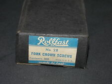 NOS Box of Rollfast fork crown screws parts 100 bicycle bike Schwinn Elgin CWC