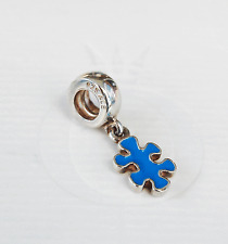 Genuine Pandora Dangle Charm Jigsaw Puzzle Piece Blue790486EN01 - retired
