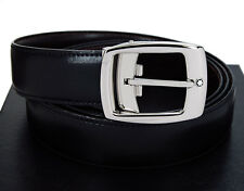 NEW Mont Blanc Contemporary Line 9695 Reversible Mens Leather Belt 09695
