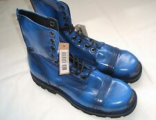 BNWT MENS RRP EUR 345 DIESEL SIZE 9 HARDKOR STEEL BOOTS PATENT LEATHER