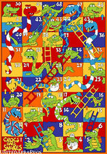 5x7 Rug Crocks and Snake Kids Play Game Time Snakes and Ladder New