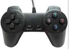 Black USB Wired Game Controller Pad Gamepad Joypad Joystick For PC Computer Game