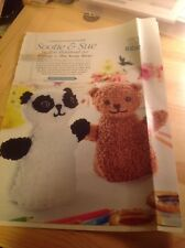 Sootie & Sue Bear/Panda Puppets - Inspired By The Sooty Show - Knitting Pattern