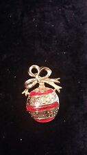 VINTAGE PREMIER CHRISTMAS ORNAMENT PIN SIGNED FREE SHIPPING