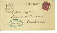 Z18852-TOSCANA, BARBERINO DI MUGELLO, NUMERALE A SBARRE PER PRATO, 1882