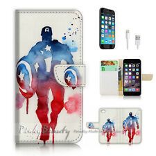 iPhone 6 6S (4.7') Flip Wallet Case Cover! P2008 Captain America