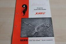 144271) Rabewerk Zuckerrüben-Roder - KARÜ - Prospekt 09/1952