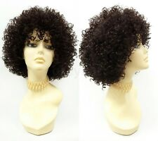 Dark Brown Spiral Curls Heat Resistant Fashion Wig Big Short Curly Afro-like