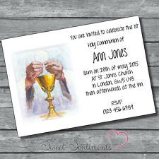Pack de 10 personnalisé 1er sainte communion invitations-style A6 carte brillant 5