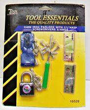 TOOL ESSENTIALS #16526 Repair Replacement Kit Padlock Hasp Screwdriver Hinge