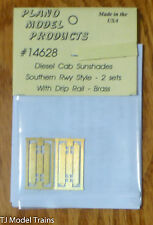 Plano #14628 (HO Scale) Diesel Cab Sunshades -- Southern Railway Style - 2 Sets