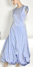 $2100 DONNA KAREN Black Label Periwinkle Blue 100% Silk Taffeta Dress/Gown NWT