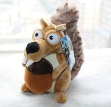"Ice Age 4 Continental Drift Funny Squirrel Scrat Plush Doll 8"" Adorable Toy US"